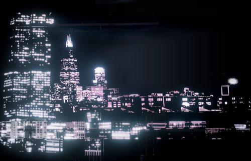 city lighting view