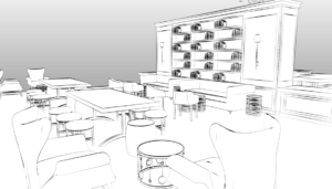 event design, virtual planning, sketch